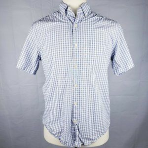 J.Crew Cotton Button Down Polo Shirt Plaid Checker